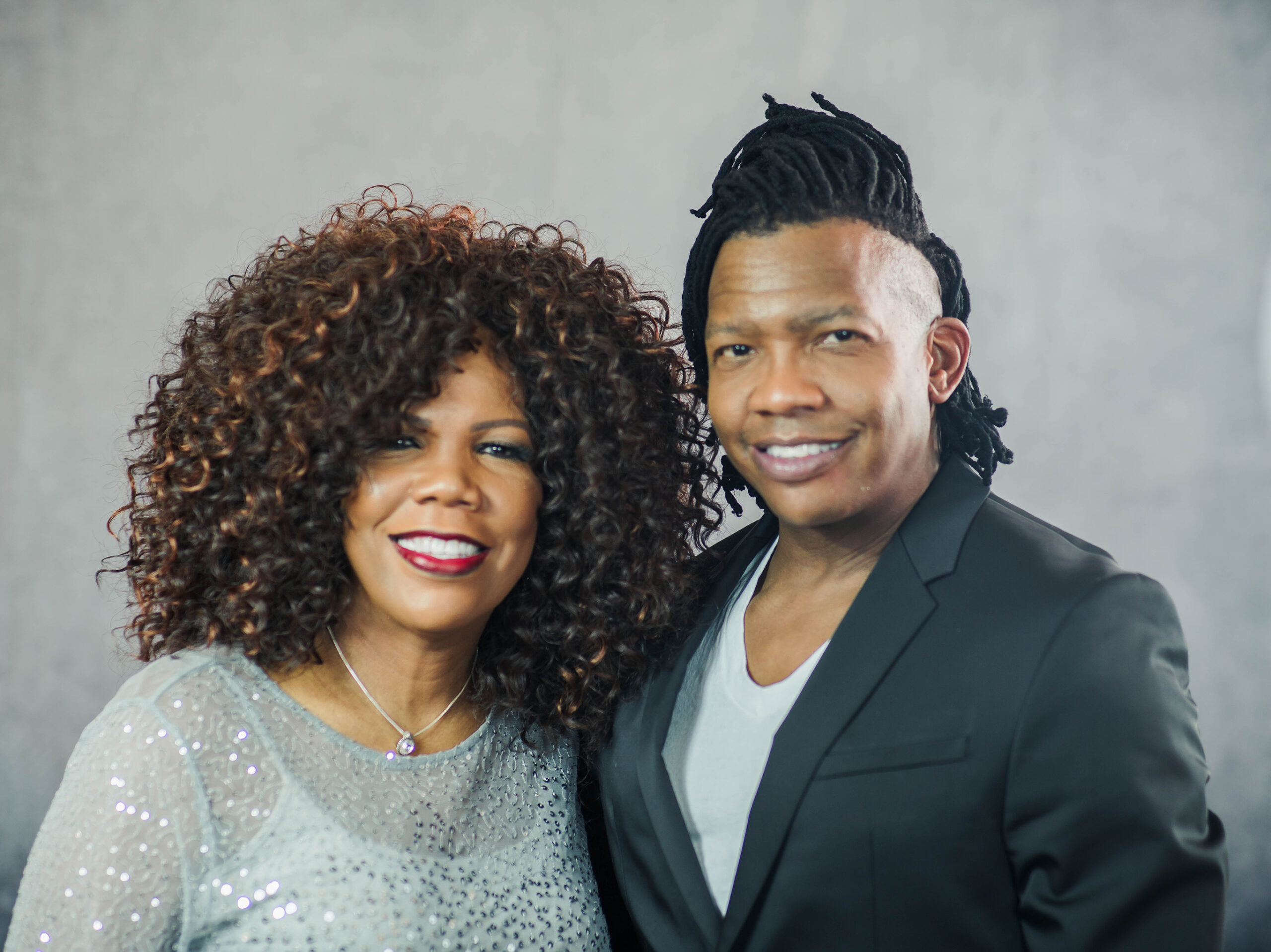 Lynda Randle and her brother Michael Tait